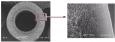 Sezione trasversale al microscopio elettronico della struttura asimmetrica della fibra cava KRISTAL ®